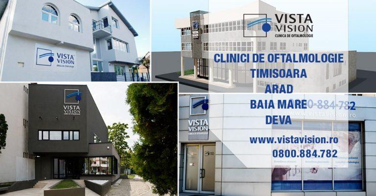 Clinici de oftalmologie- Timișoara, Arad, Baia Mare și Deva
