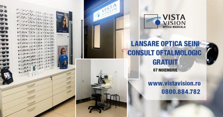Lansare optica Seini – Consult oftalmologic gratuit